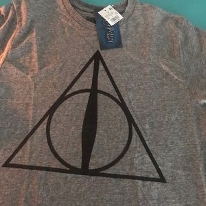 Harry Potter men's medium grey & Black NWT